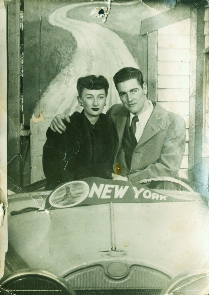 My parents, Pat & Elmer, on their honeymoon, 1947