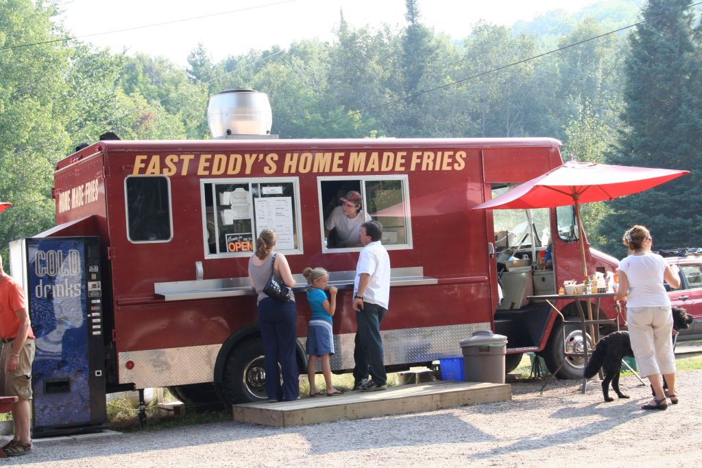 Customers at Fast Eddy's, Combermere, Ontario